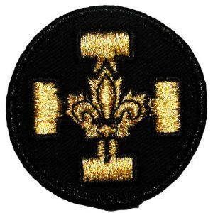 Badge Croix Or