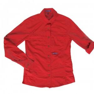 chemise rouge femme (8046)