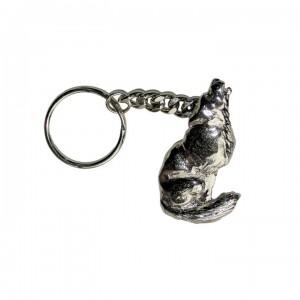 porte cle loup gris (1015097)