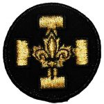 Badge Croix Or