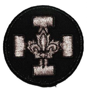 Badge croix argent