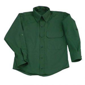 Chemise enfant vert foret (8072)