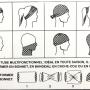 instruction foulard multiusages